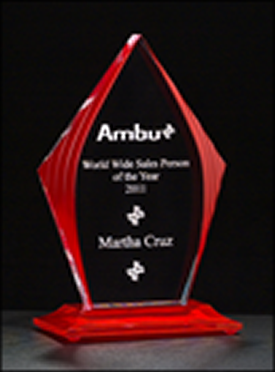Flame Series Red Acrylic Award