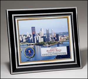 Silver and Black Frame with Full Color Printing Award