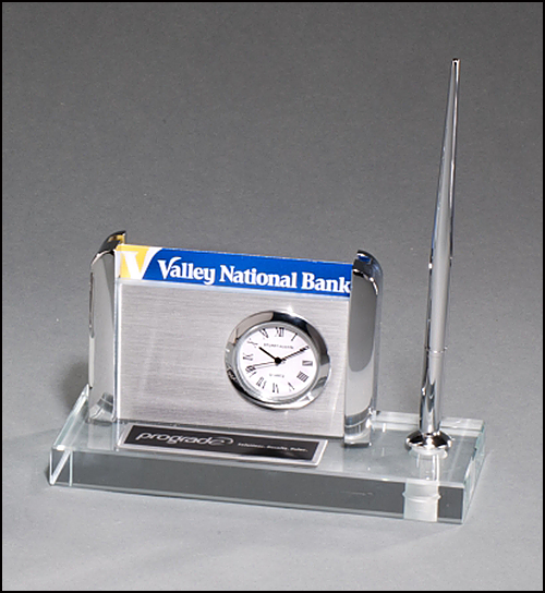 Clock Pen and Business Card Holder
