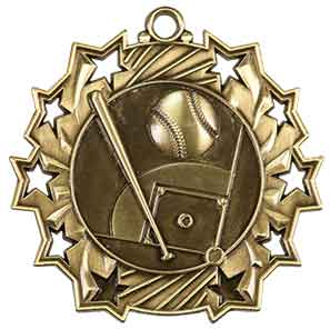 Baseball Ten Star Medal