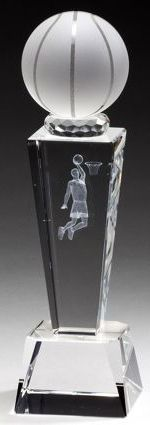 Male Basketball Crystal Trophy