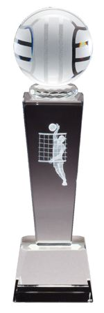 Male Volleyball Crystal Trophy