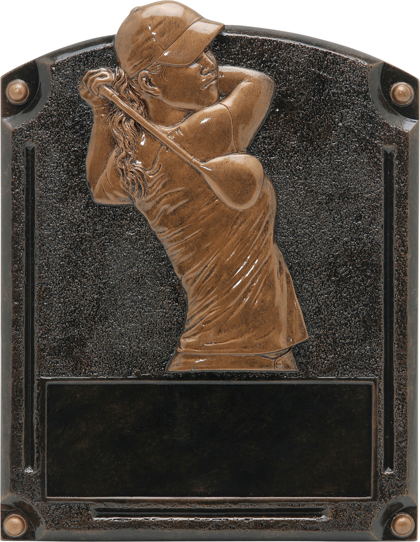 Female Golf Legends Resin Trophy