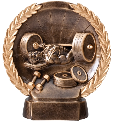 Bench Press Plate Resin Trophy