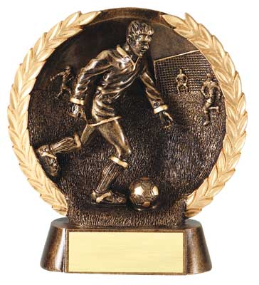 Male Soccer Plate Resin Trophy