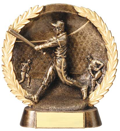 Male Baseball Plate Resin Trophy