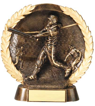 Female Softball Plate Resin Trophy