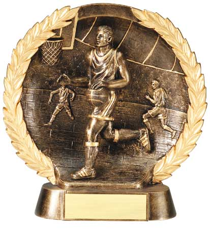 Male Basketball Plate Resin Trophy