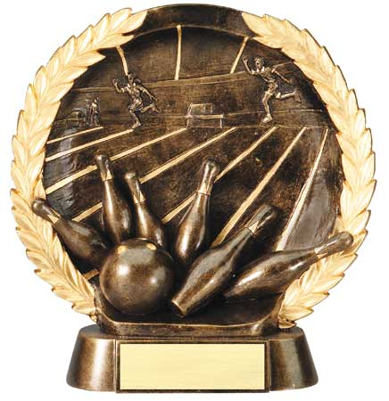 Bowling Plate Resin Trophy