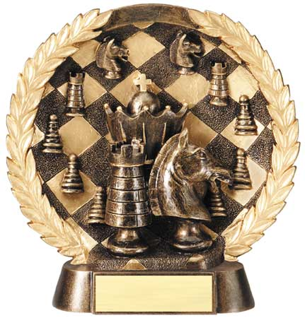 Chess Plate Resin Trophy