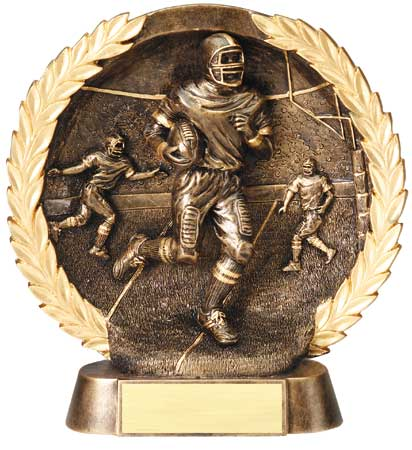 Football Plate Resin Trophy