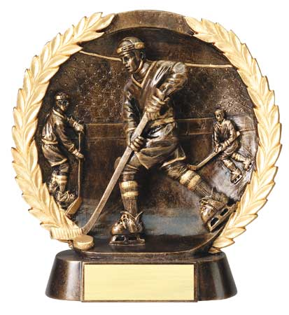 Male Hockey Plate Resin Trophy