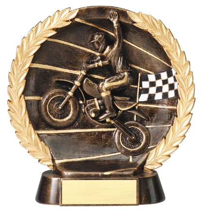 Motocross Plate Resin Trophy