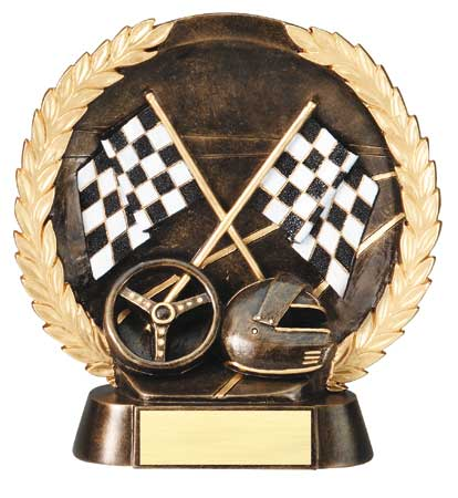 Racing Plate Resin Trophy