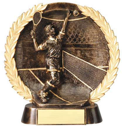 Male Tennis Plate Resin trophy