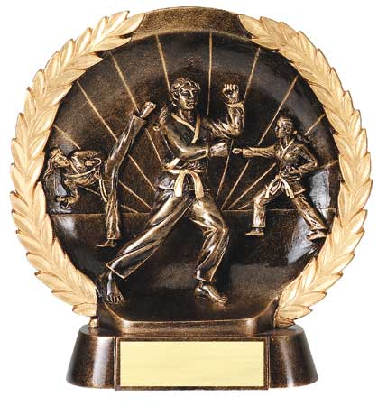 Female Karate Plate Resin Trophy