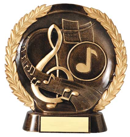 Music Plate Resin Trophy