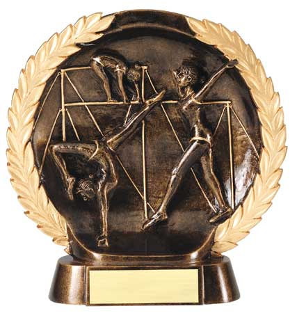 Female Gymnastics Plate Resin Trophy