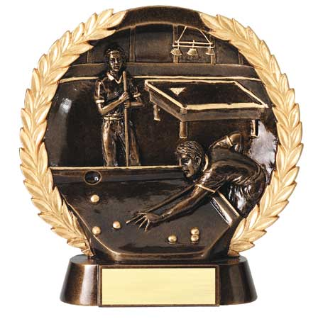 Billiards Plate Resin Trophy
