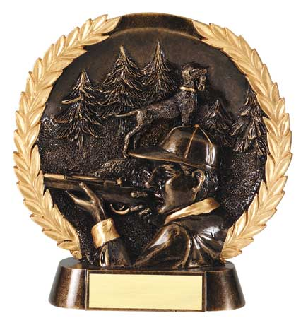 Hunting Plate Resin Trophy