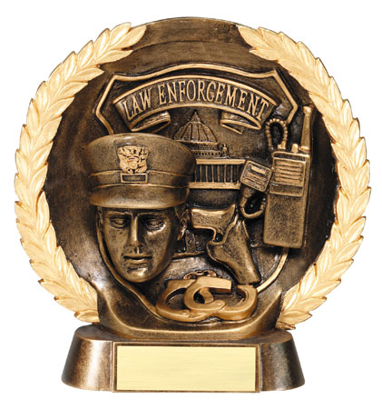 Law Enforcement Plate Resin Trophy