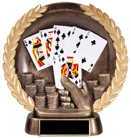 Poker Hand Plate Resin Trophy