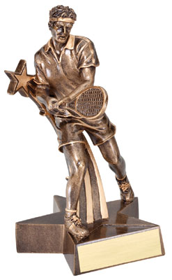 Male Tennis Superstar Resin Trophy